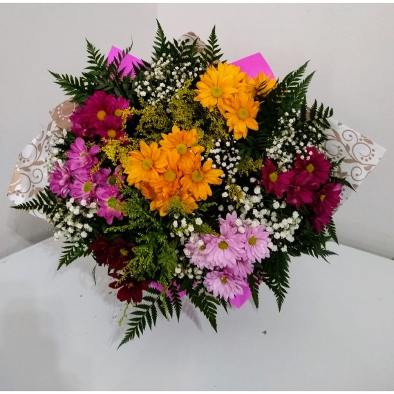 Buque de Flores do Campo Colorido