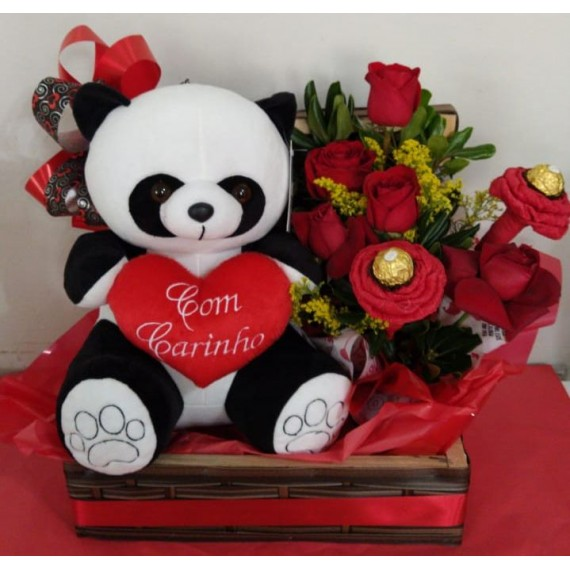 Baú Decorado Com Panda