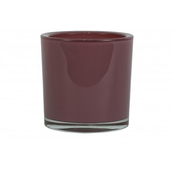 Vaso Cilíndrico de Vidro cor Vinho