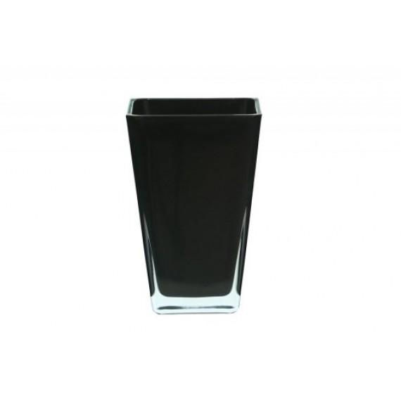 Vaso de Vidro Quadrado Preto