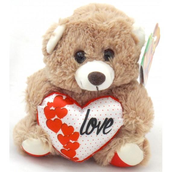 Ursinho Marrom com Coração Love
