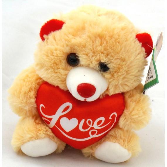 Ursinho Bege com Coração Love